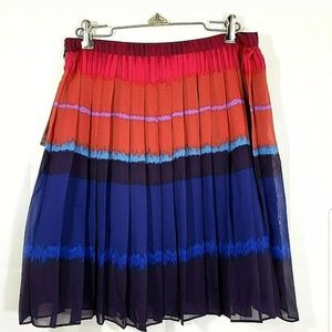 Elle Pleated Journey To Nice Lined Skirt SZ 10